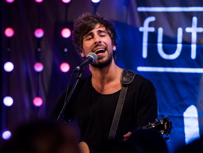 MUNICH, GERMANY - JUNE 09: Talent Max Giesinger performs at the event 'MTV PUSH FUTURES LIVE AT ALOFT HOTELS' on June 9, 2016 in Munich, Germany. (Photo by Joerg Koch/Getty Images for MTV)